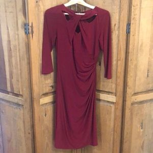INC maroon dress for work or a party!